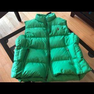 Ralph Lauren Green Quilted Puffer Vest